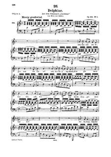 Zwei Szenen aus 'Lacrimas' von Schütz, D.857 Op.124: No.2 Delphine, for medium voice and piano by Franz Schubert