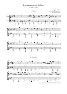 Partita for Lute: Partita for Lute, Op.32 No.2 by Unknown (works before 1850)