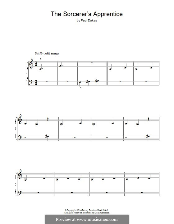 Der Zauberlehrling: Für Klavier by Paul Dukas