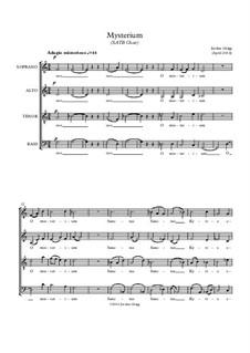 Mysterium (SATB Choir): Mysterium (SATB Choir) by Jordan Grigg