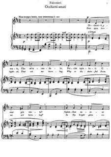 Occhietti amati: For mezzo-soprano and piano by Andrea Falconieri