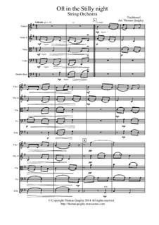 Oft in the Stilly Night: Für Streichorchester by folklore