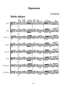 Вариации для камерного оркестра: Вариации для камерного оркестра by Konstantin Dyubenko
