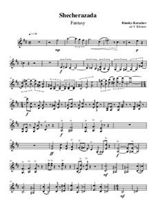 Fantasy, for string quartet: Violinstimme II, Op.25 No.3 by Nikolai Rimsky-Korsakov