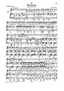 Wehmut, D.772 Op.22 No.2: Für Mittelstimme und Klavier by Franz Schubert