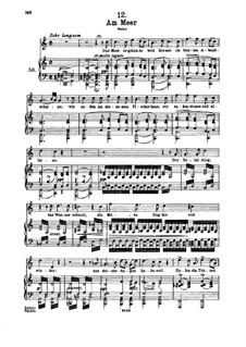 Nr.12 Am Meer: Für hohe Stimme und Klavier by Franz Schubert