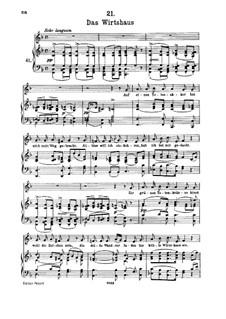 Nr.21 Das Wirtshaus: Für hohe Stimme und Klavier by Franz Schubert