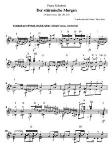 Nr.18 Der stürmische Morgen: Für Gitarre by Franz Schubert
