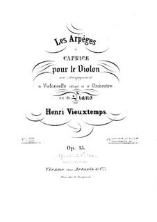 Les arpéges. Caprice , Op.15: Les arpéges. Caprice  by Henri Vieuxtemps