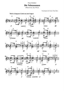 Nr.23 Die Nebensonnen: Für Gitarre by Franz Schubert