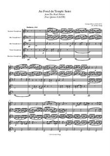 Au fond du temple saint: For sax quintet SAATB by Georges Bizet