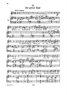 Nr.14 Der greise Kopf: Für hohe Stimme und Klavier by Franz Schubert