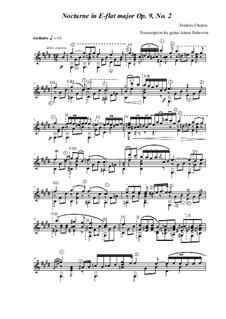 Nr.2 in Es-Dur: Transcription für Gitarre von Anton Dubrovin by Frédéric Chopin