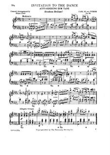 Aufforderung zum Tanze, J.260 Op.65: Für Klavier (Version von F. Liszt) by Carl Maria von Weber
