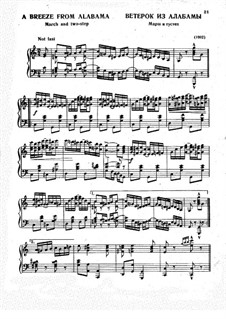 A Breeze from Alabama: Für Klavier by Scott Joplin
