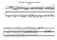 12 Prelude's for Contraforte and Piano: Prelude No.10, MVWV 751 by Maurice Verheul