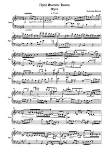Prelude and Fugue 'To Your Name': Fugue by Yekaterina Shatrova