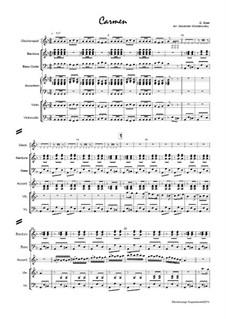 Vollständiger Oper: Overture, for sextet, Op.183 by Georges Bizet