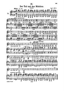 Tod und das Mädchen, D.531 Op.7 No.3: Für hohe Stimme und Klavier by Franz Schubert