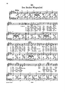 Nr.20 Des Baches Wiegenlied: Für hohe Stimme und Klavier by Franz Schubert