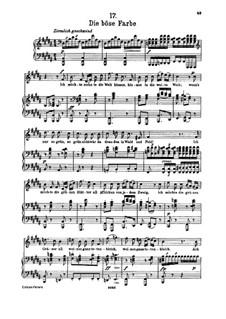 Nr.17 Die böse Farbe: Für hohe Stimme und Klavier by Franz Schubert