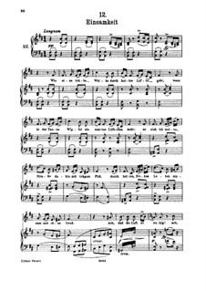 Nr.12 Einsamkeit: Für hohe Stimme und Klavier by Franz Schubert