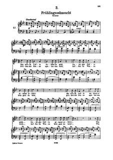 Nr.3 Frühlingssehnsucht: Für hohe Stimme und Klavier by Franz Schubert