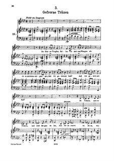 Nr.3 Gefrorne Tränen: Für hohe Stimme und Klavier by Franz Schubert
