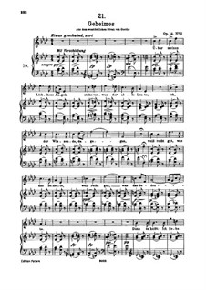 Geheimes, D.719 Op.14 No.2: Für hohe Stimme und Klavier by Franz Schubert