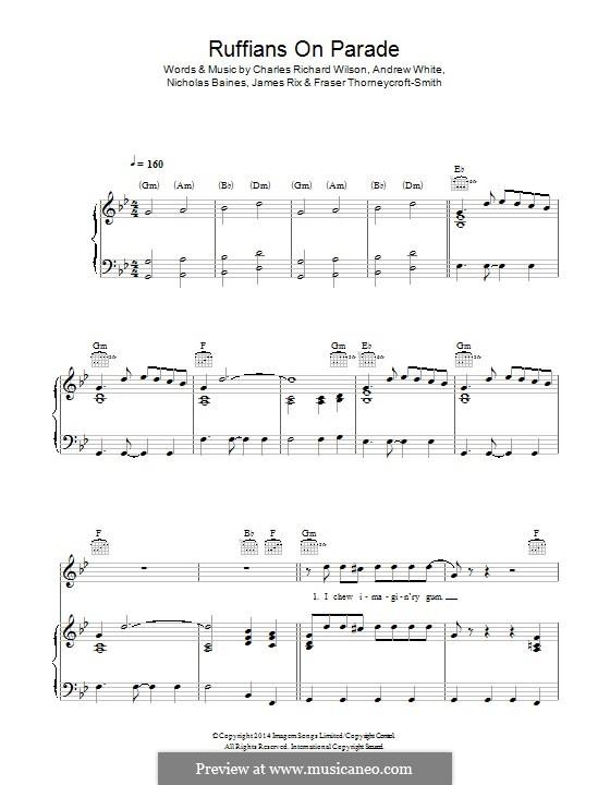 Ruffians on Parade (Kaiser Chiefs): Für Stimme und Klavier (oder Gitarre) by Andrew White, Fraser Thorneycroft-Smith, James Rix, Nicholas Baines, Charles Wilson