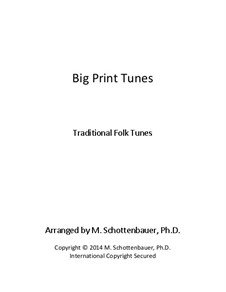 Big Print Tunes: Level 1: Low Treble (2 Octaves, F to F) by folklore