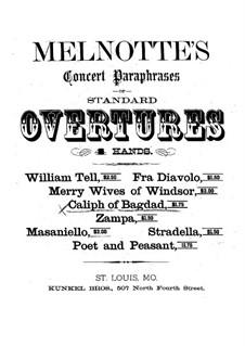 Der Kalif von Bagdad: Ouvertüre für Klavier, vierhändig by Adrien Boieldieu