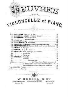 Kleine Suite: Serenade, für Cello (oder Bratche) und Streicher – Direktion by Alexander Porfiryevich Borodin