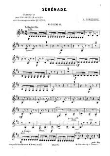 Kleine Suite: Serenade, für Cello (oder Bratche) und Streicher – Violinstimme II by Alexander Porfiryevich Borodin