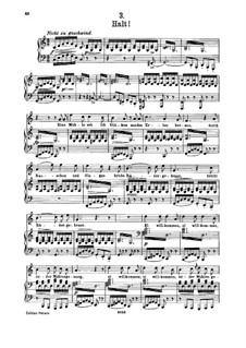 Nr.3 Halt: Für hohe Stimme und Klavier by Franz Schubert