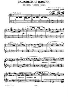 Die Polowetzer Tänze: Für Klavier by Alexander Porfiryevich Borodin