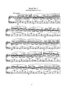 Fünf Studien zu den Themen aus Werken verschiedener Komponisten: Studie Nr.1 by Johannes Brahms