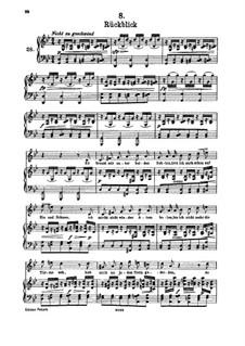 Nr.8 Rückblick: Für hohe Stimme und Klavier by Franz Schubert