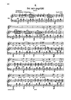 Sei mir gegrüsst, D.741 Op.20 No.1: Für hohe Stimme und Klavier by Franz Schubert