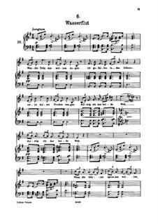 Nr.6 Wasserflut: Für hohe Stimme und Klavier by Franz Schubert