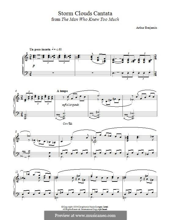 The Storm Clouds Cantata: Für Klavier by Arthur Benjamin