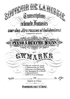 Souvenir de la Russie, Op.151: Transkription No.1 en forme de fantaisie sur des 'Hymne Nationale Russe' de Lvoff by Johannes Brahms
