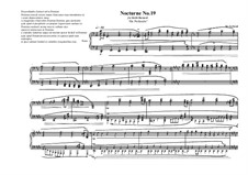 Nocturne No.19 for piano, MVWV 787: Nocturne No.19 for piano by Maurice Verheul