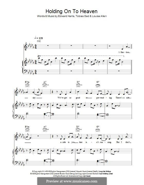 Holding Onto Heaven (Foxes): Für Stimme und Klavier (oder Gitarre) by Edward Harris, Tobias Gad, Louisa Allen