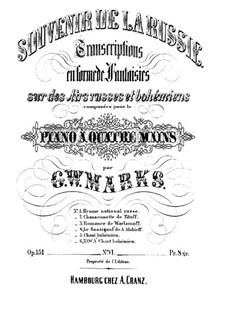 Souvenir de la Russie, Op.151: Transkription No.6 en forme de fantaisie sur des 'Chant bohémien' by Johannes Brahms