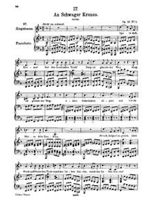 An Schwager Kronos, D.369 Op.19 No.1: Für hohe Stimme und Klavier by Franz Schubert