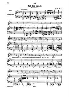 Auf der Bruck, D.853 Op.93 No.2: Für hohe Stimme und Klavier by Franz Schubert