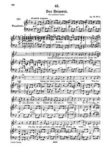Das Heimweh, D.851 Op.79 No.1: Für hohe Stimme und Klavier by Franz Schubert