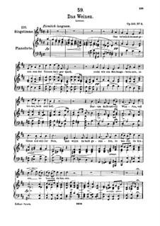 Das Weinen, D.926 Op.106 No.2: Für hohe Stimme und Klavier by Franz Schubert