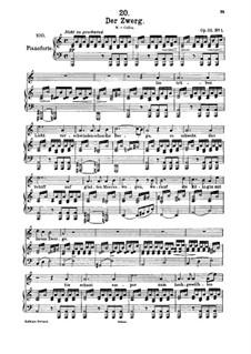 Der Zwerg, D.771 Op.22 No.1: Für hohe Stimme und Klavier by Franz Schubert